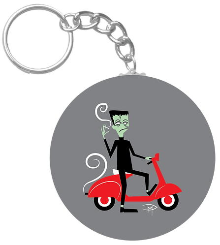 """Ghouls Scooter Club"" Keychain"