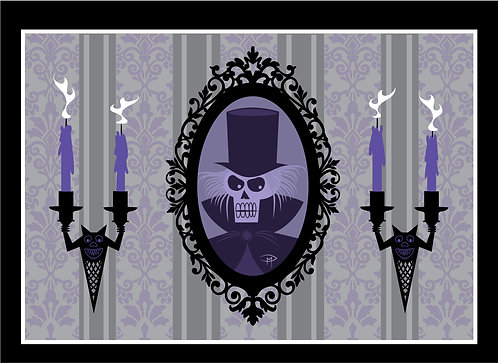 """Haunted Frame"" Greeting Card 5""x7"""