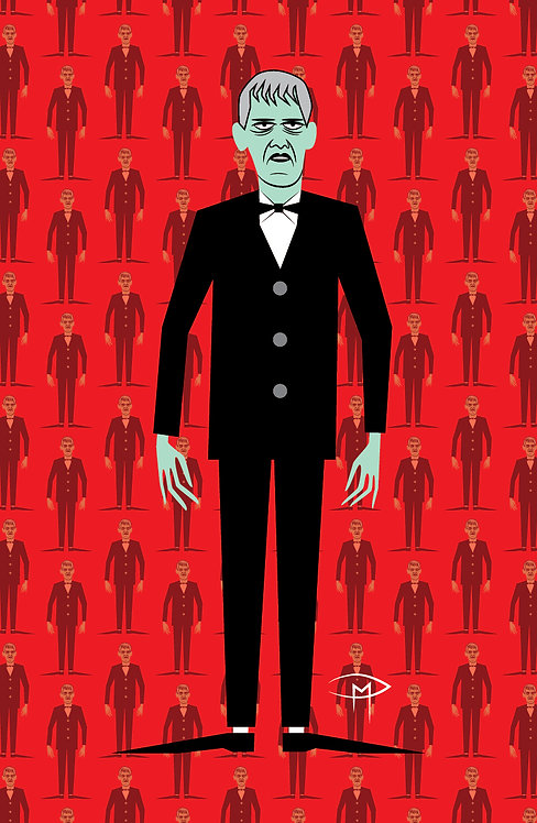 """Lurch Addams Pattern"" 11""x17"" Poster"