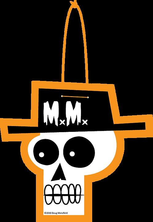 """""""Mansfield Monsters Orange"""" Skele Logo Die Cut Decoration"""