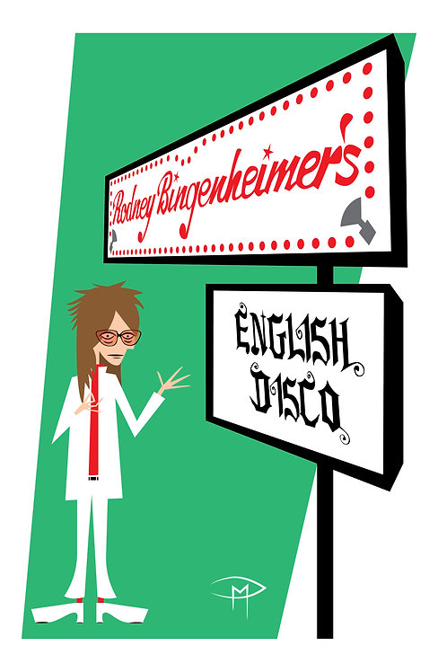 "Rodney Bingenheimer ""English Disco"" 11x17 Poster"