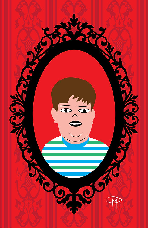 """Pugsley Addams Frame"" 11""x17"" Poster"