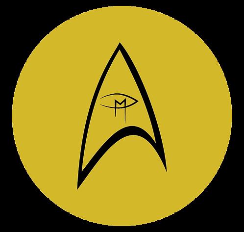 """Star Trek Visual Artist Emblem Gold 2.25"""" Button"""