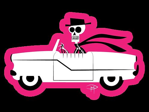 Skele In A Met Die Cut Sticker