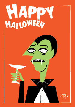 """The Count"" 3.5""x5"" Halloween Card & Envelope"