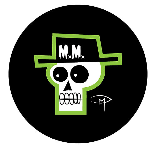 """Mansfield Monsters """"Skele Green"""" Button"""