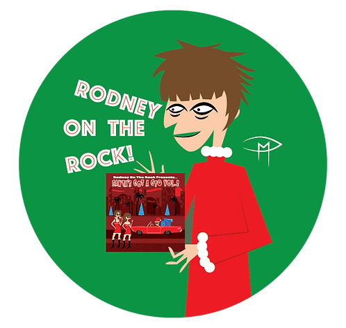 "Rodney Bingenheimer ""Christmas Album"" 2.25"" Button"