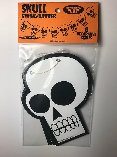 """Skull"" String Banner Decoration"