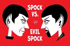 Spock Vs Evil Spock Face Red Poster.jpg