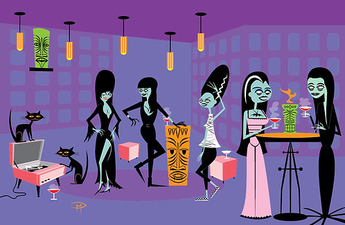 """""""Ghouls Night Out"""" 11"""" x 17"""" Poster"""