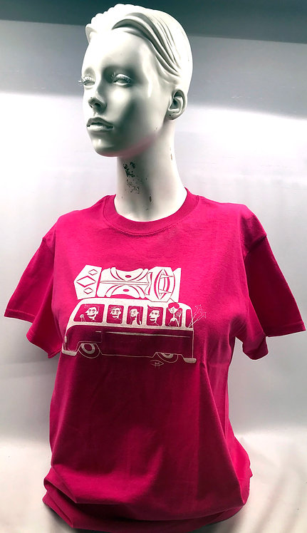 """Bus Ride"" Pink T- Shirt Small"