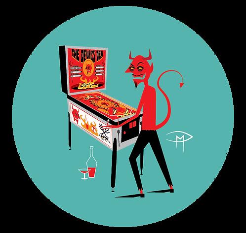 """The Devil's Den 2.25"""" Button"""
