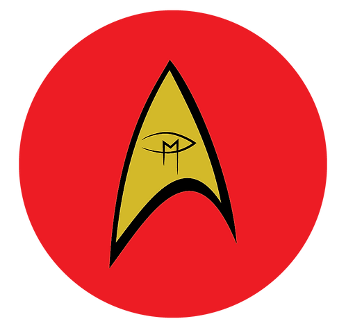 """Star Trek Visual Artist Emblem Red 2.25"""" Button"""