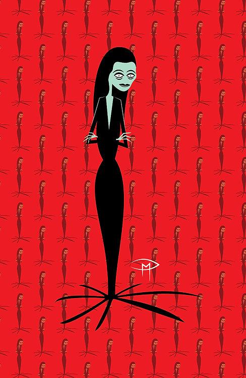 """Morticia Addams Pattern"" 11""x17"" Poster"