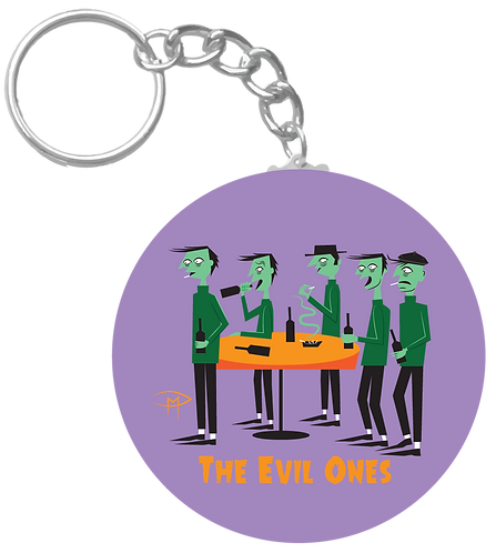 """""""The Evil Ones"""" Keychain"""