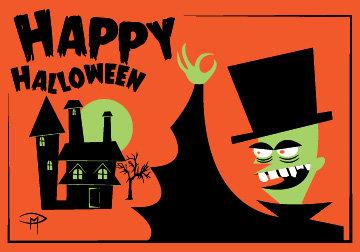 """Halloween Phantom"" 3.5""x5"" Halloween Card & Envelope"