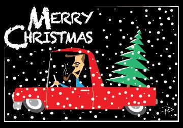 """My Tannenbaum"" 3.5""x5"" Christmas Card & Envelope"