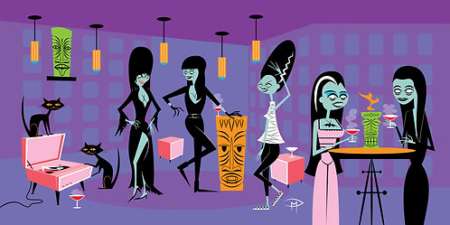 """""""Ghouls Night Out"""" Printed Canvas 20"""" x 40"""""""