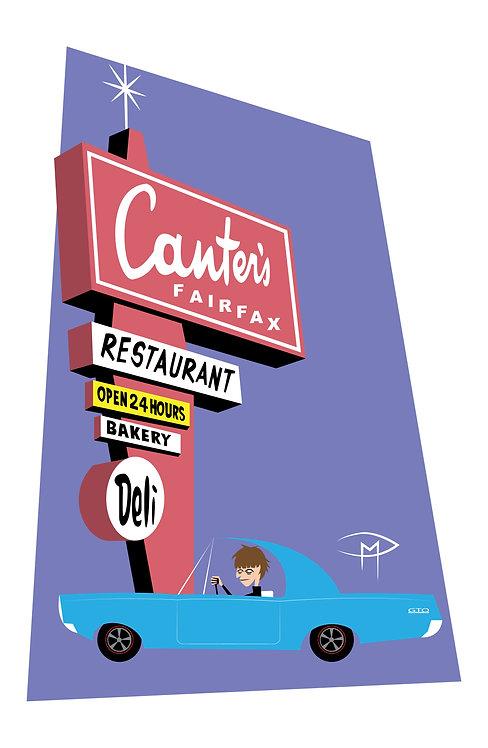 """Rodney Bingenheimer """"Dinner At Canters"""" 11x17 Poster"""