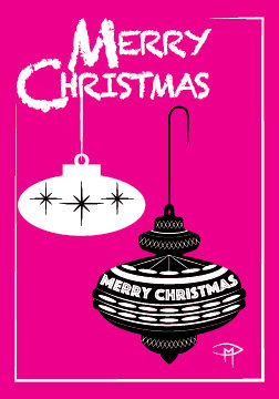 """Deck The Halls"" 3.5""x5"" Christmas Card & Envelope"