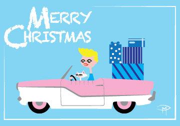 """""""Merry Met"""" 3.5""""x5"""" Christmas Card & Envelope"""