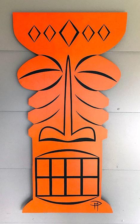 """""""Tiki Orange"""" Acrylic Painting"""