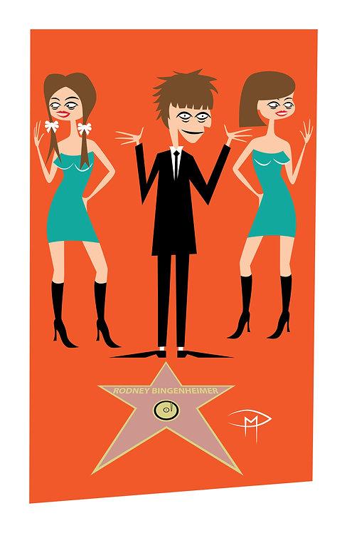 """Rodney Bingenheimer """"Walk Of Fame"""" 11x17 Poster"""