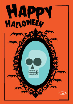 """""""Death Becomes You"""" 3.5""""x5"""" Halloween Card & Envelope"""