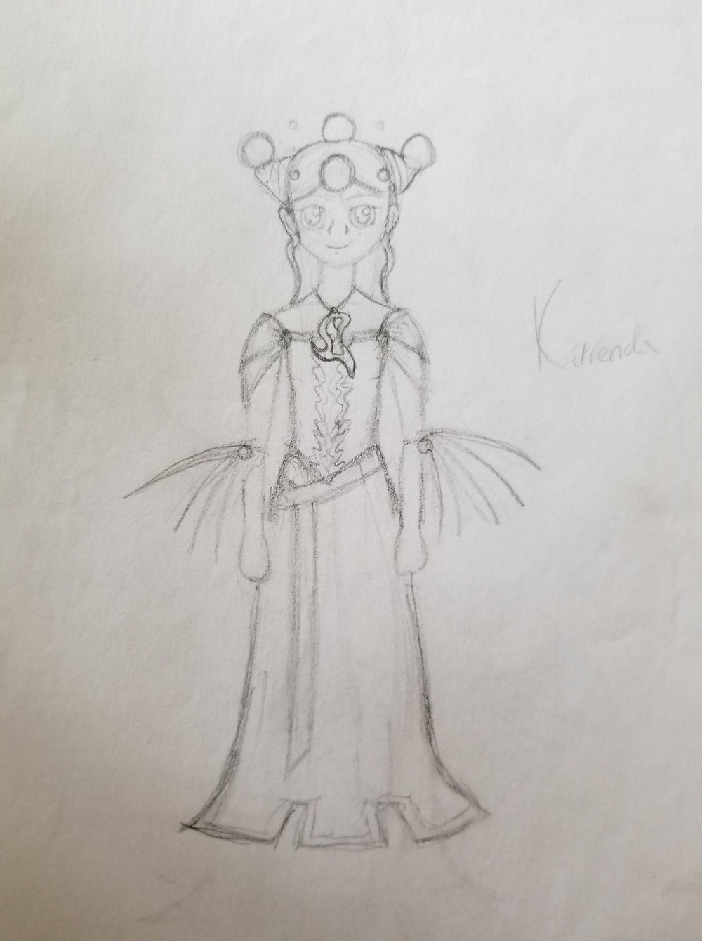 High School Drawing of Katrenda