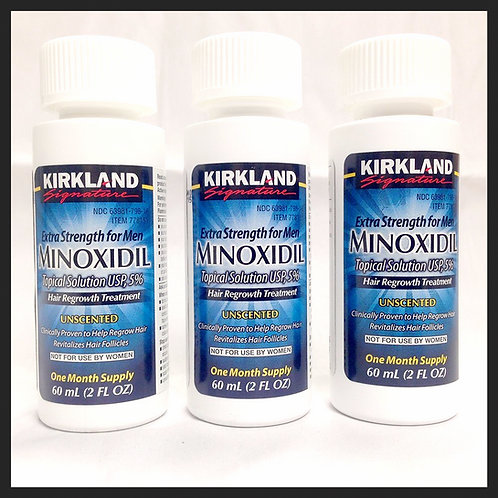 Kirkland Minoxidil a 5% - Tratamento para 3 meses