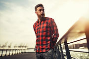 Man with Flannel Shirt