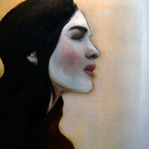 "Woman in Profile II (2013) 16""X16"""