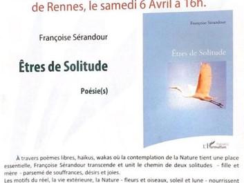 Françoise Serandour en dédicace Samedi!