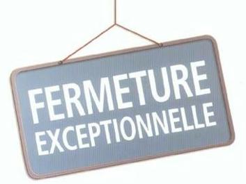 Fermeture de l'épiceRie Dimanche 30 Octobre et Mardi 1er Novembre.