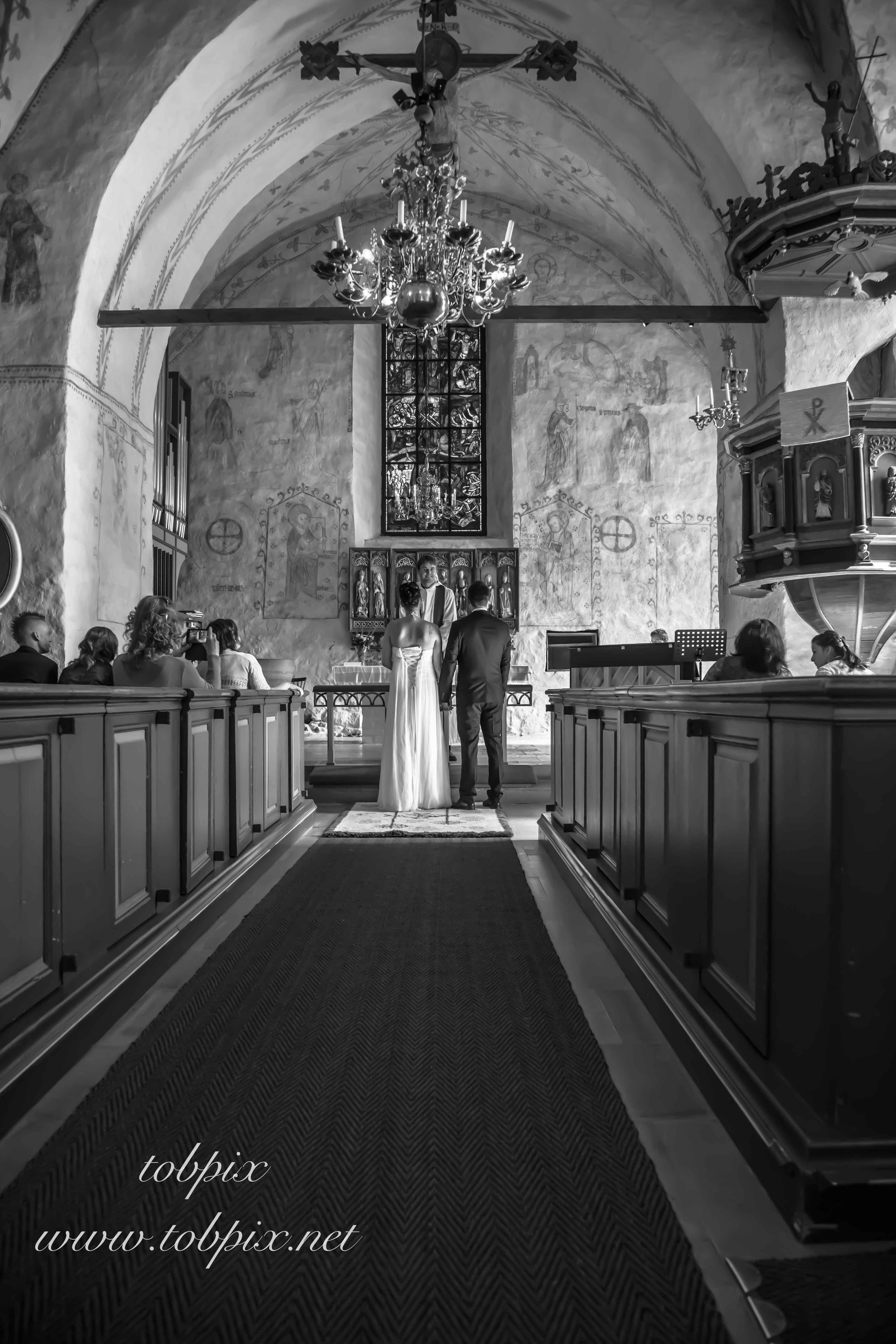 Bröllop kyrkan mingel och porträtt