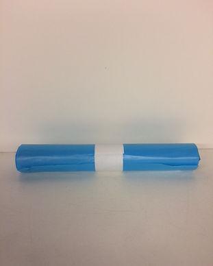 vuilniszak 62x5cm 15my blauw