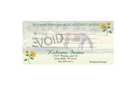 Kokomo Farms Gift Certificate