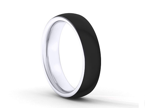 TUNGSTEN Trivia 8mm | Black Brushed Outer