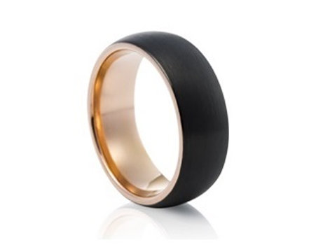 TUNGSTEN Luxe 8mm | Black Rose Accent