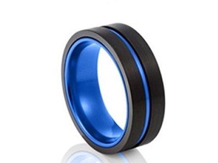 TUNGSTEN Trivia 8mm | Black Blue Inner