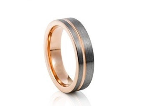 TUNGSTEN Luxe 6mm | Rose Groove Inner