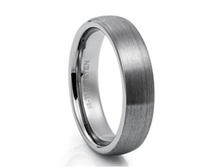 TUNGSTEN Trivia 6mm | Domed Brushed Outer
