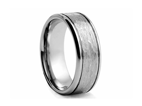 TUNGSTEN Trivia 8mm | Textured Inner Polished Edges