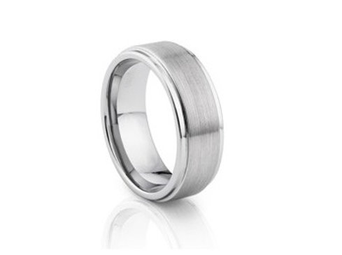 TUNGSTEN Trivia 8mm | Flat Brushed Polished Edges
