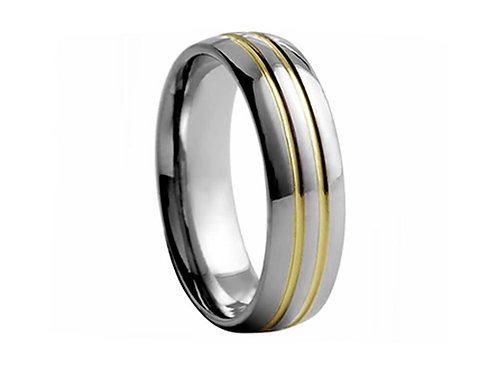 TUNGSTEN Trivia 8mm   Yellow Double Grooves