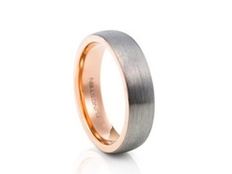 TUNGSTEN Luxe 6mm | Brushed Metal Rose