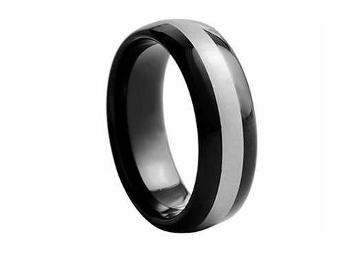 TUNGSTEN Trivia 8mm | Black Metal Inner Accent