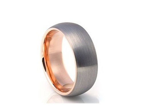TUNGSTEN Luxe 8mm | Metal Rose Accent