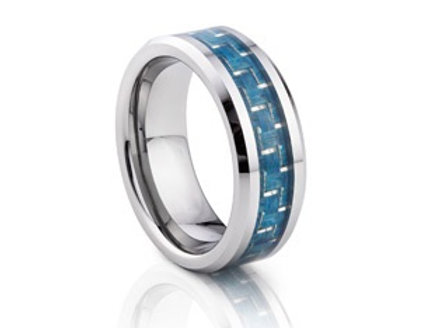 TUNGSTEN Trivia 8mm | Turquoise Carbon Centre