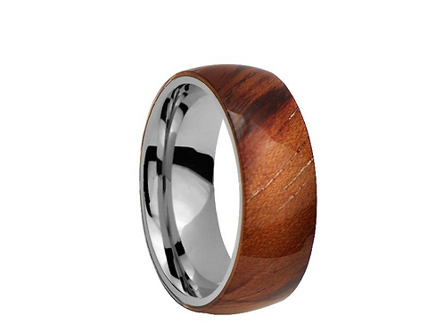 TUNGSTEN Luxe 8mm  |  Wooden Cosmetic Outer